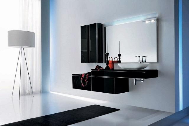 Modern black bathroom Black: Create a dramatic and beautiful space Black: Create a dramatic and beautiful space Black bathroom furniture Onyx by Stemik Living 1