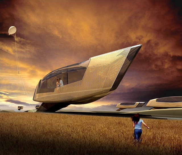 Tornado proof home See the future: best futuristic styled houses See the future: best futuristic styled houses Tornado house 01