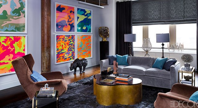 BEST DESIGN PROJECTS 2014 BY ELLE DECOR: INSPIRING VINTAGE MANHATTAN APARTMENT LAMPS AND FURNITURE