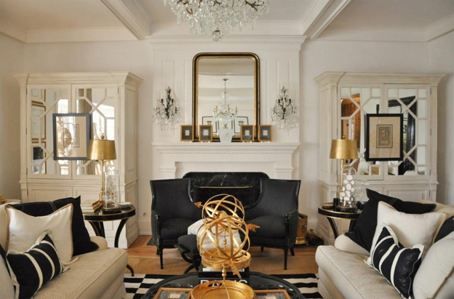 Decoration trends 2014: Amazing Black and Golden interiors