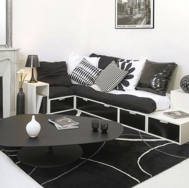 INTERIOR DESIGN COLOR SCHEMES BLACK AND WHITE Black&White - A Classic in Interior Design  Black&White – A Classic in Interior Design  INTERIOR DESIGN COLOR SCHEMES BLACK AND WHITE 201