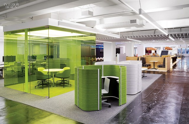 Interior Design Hall of Fame Office by Clive Wilkinson Architects