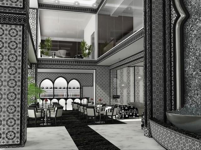 Hotel Lobby by Denis Zavjalkin