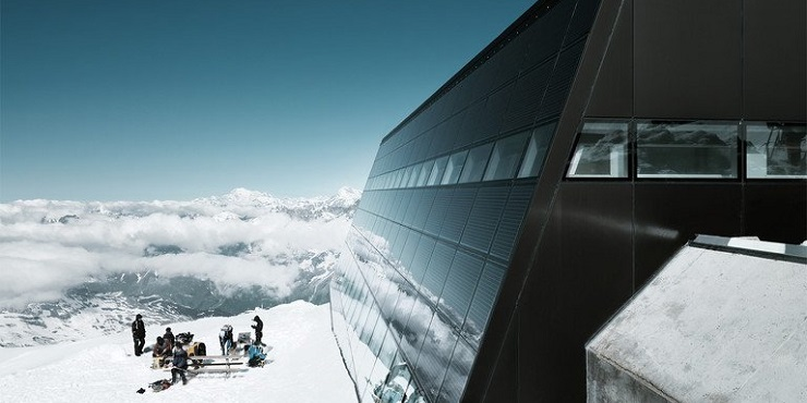 interior design Restaurant Matterhorn Glacier Paradise:interior design by Bogen Design restaurant matterhorn glacier paradise