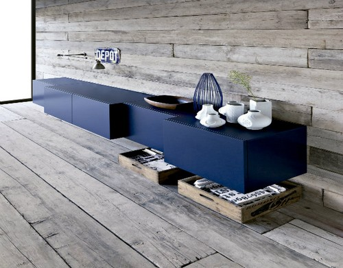 Top 50 Beautiful Sideboards for hotel bedroom Top 50 Beautiful Sideboards for Hotel bedrooms Top 50 Beautiful Sideboards for Hotel bedrooms 12TOP 50 MODERN SIDEBOARDS Floating modern navy cabinet and grey rustic wood ship lap walls