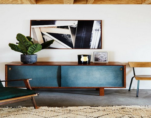 Top 50 Beautiful Sideboards for hotel bedroom Top 50 Beautiful Sideboards for Hotel bedrooms Top 50 Beautiful Sideboards for Hotel bedrooms 25TOP 50 MODERN SIDEBOARDS Mid century modern sideboard underneath abstract art
