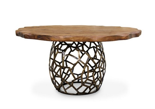 Amazing Modern Dining Tables to make your project especial Amazing Modern Dining Tables to make your project especial Amazing Modern Dining Tables to make your project especial Apis round geometric wood brass dining table