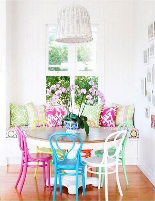 50 Modern Dining Chairs to use in Restaurant Decor 50 Modern Dining Chairs to use in Restaurant Decor 50 Modern Dining Chairs to use in Restaurant Decor Vintage turned to modern dining chair ideas with bright colours 35
