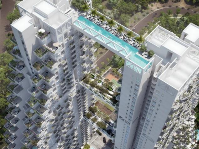 Amazing Architecture Project: Singapore´s Sky pool  Amazing Architecture Amazing Architecture Project: Singapore´s Sky pool singapores newest residential building features sky bridges unbelieveable sky pool 01
