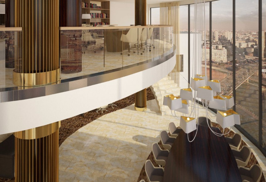 The Best Contract Projects Around The World by Kitzig Interior Design Contract Projects The Best Contract Projects Around The World by Kitzig Interior Design Sky centre     International hotel group project Moscow Russia