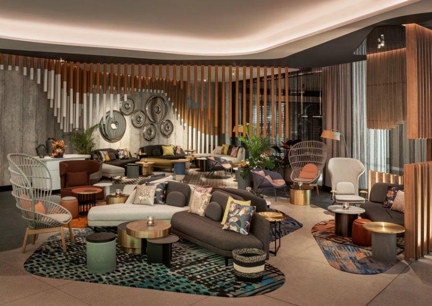 W hotel Brisbane lobby furniture set Luxury hotels of the world Luxury hotels of the world - NY's most loved hotel arrived to Brisbane Luxury hotels of the world W hotel Brisbane Lobby bar design area 1