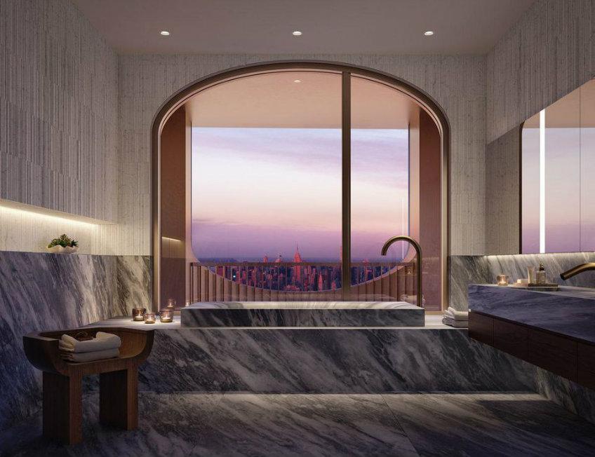 Luxury master bathroom - NY skyscraper designed by David Adjaye new york skyscraper Sneak peek into David Adjaye's first New York skyscraper Sneak peek into David Adjayes first New York skyscraper 9