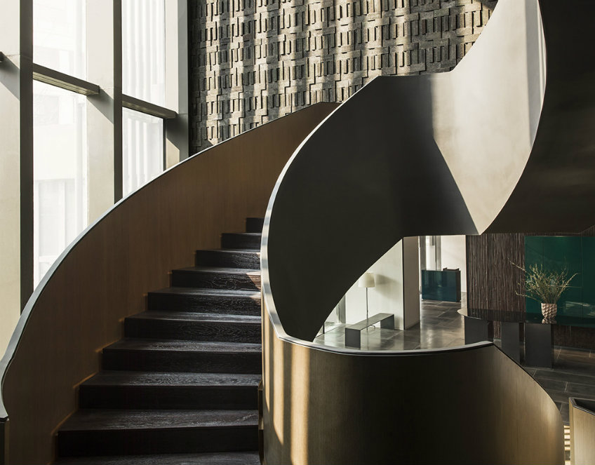 The Middle House stairs by Piero Lissoni new piero lissoni hotel New Piero Lissoni hotel design- the much anticipated The Middle House Lissoni Architect The Middle house stairs