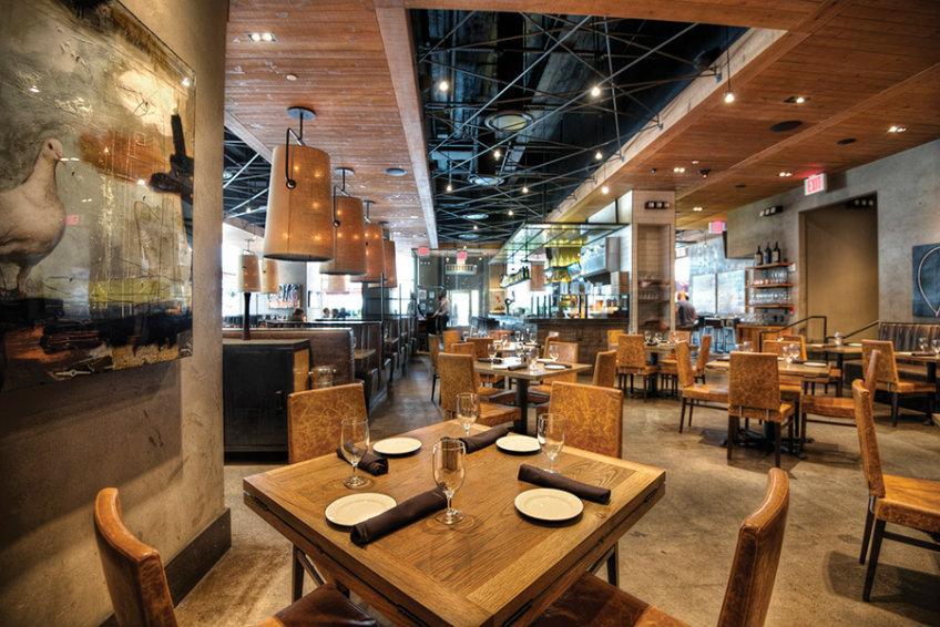 The Johnson Studio Food and Space Harmony - Del Frisco's Grille